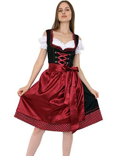 Lifos 1300 Trachtenkleid 3Tlg. Dirndl Oktoberfest Gr.34 bis 52 !!ORIGINAL!! (40)