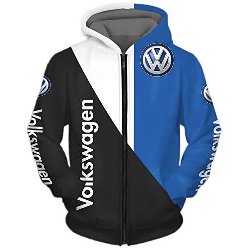 xiaoxian Männer Hoodies Zum Volkswagen 3D Drucken Volkswagen-Fan Pullover/Zip Sommer Beiläufig Sweatshirts Jacke Sport / D1 / M