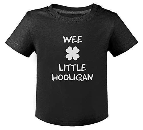 Green Turtle St Patrick Wee Little Hooligan Irish Funny T-Shirt Bébé Unisex 18M Noir