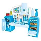 YeahiBaby Juguete de Utensilios de Cocina de Plástico Azul para Juego de Imitación de Niñas Infantil