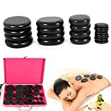 Electric Hot Stone Massage Set, Basalt Hot Stones Set Hot Rocks Massage Stones Kit with Heater Box for Professional or Home spa, Relaxing, Healing, Pain Relief (20PCS)