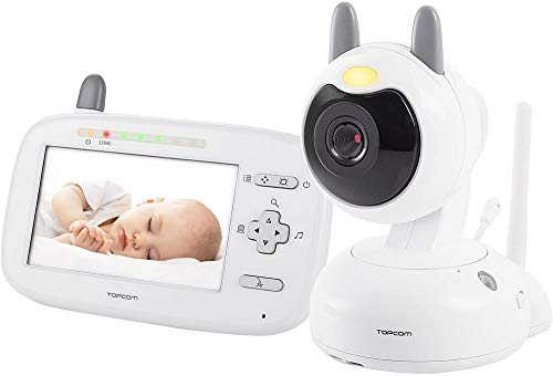 "Topcom KS-4249 Digitaler Baby-Videomonitor – 4,3"" Farbdisplay – Bewegliche Kamera"