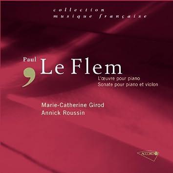 Le Flem-Oeuvres pour piano-Sonate pour piano et violon