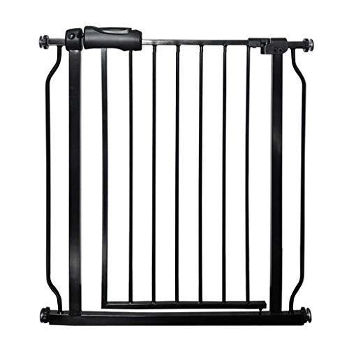 SuRose Puertas Negras para Mascotas Extra largas y Anchas, Puerta para Perros para pasillos/Puertas/escaleras/Interiores, 61-265.9cm (Tamaño: Ancho 146-157.9cm)