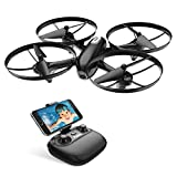 Potensic Drone WiFi FPV RC Quadcopter 720P HD ֆոտոխցիկով, կենդանի փոխանցում, բարձրության վրա պահում, մեկ կոճակով վերադառնալու և գլխի ռեժիմ, արագության ռեժիմ, մեկ կոճակով սկիզբ / վայրէջք, իդեալական նախնիների և երեխաների համար