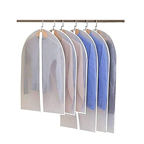 Klädöverdrag, klädväska dammtät kostymöverdrag väskor 6 st genomskinliga klädskydd fuktsäker dammsäker klädskydd för hemmet kemtvätt