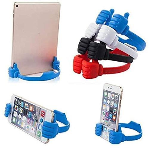 Soporte para teléfono móvil, móvil, tableta, soporte para pulgar general, cómodo, plano, 3 unidades (color al azar)