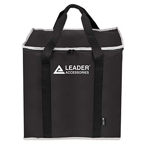 Leader Accessories Heavy Duty Waterproof Portable Toilet Storage Bag with Handles, Washable, Black