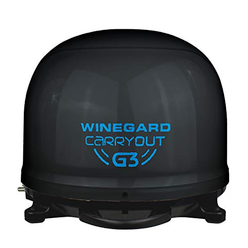Winegard Company Carryout G3 Portable Automatic Satellite Antenna Black