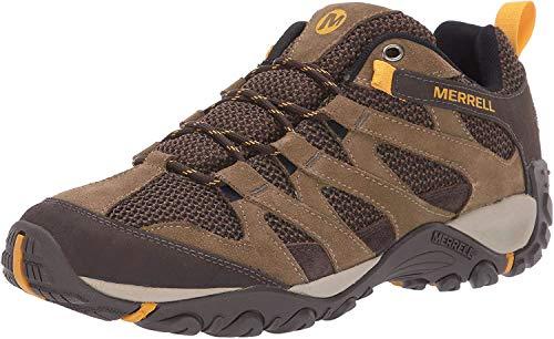 Merrell mens Alverstone Hiking Shoe, Merrell Stone, 9.5 Wide US