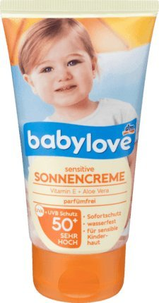 babylove Sonnencreme sensitive LSF 50+, 75 ml