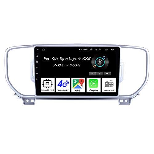 Aircross Autoradio Écran Tactile De Navigation GPS Lecteur 8 Cores 2G+32G Pour KIA Sportage 4 KX5 2016-2018 Voiture Accessoires De Voiture Brancher Et Utiliser Commandes Au Volant Car Audio