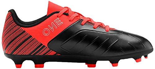 Puma Unisex-Kinder ONE 5.4 FG/AG Jr Fußballschuhe,  Black-Nrgy Red Aged Silver 01, 38.5 EU