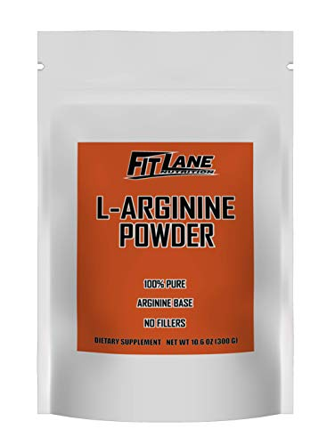 arginine powders L-Arginine Powder. 5000mg per Serving. Pure Nitric Oxide Supplement by Fit Lane Nutrition 300 Grams (10.5 oz) Bag.