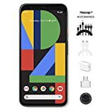 Google - Pixel 4 Unlocked Android Smartphone 64GB Cell Phone Unlimited Cloud Storage (Black) AT&T/T-Mobile/Verizon W/ 69.99 Hesvap 7 in 1 Accessories Bundle