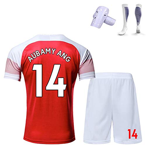 CBVB Fußball-Sportbekleidung, Lacazette Ramsey Aubameyang, Trikots von Arsenal 19-20, Heim- und Auswärtsuniformen, anpassbar, Kinder- / Jugend- / Erwachsenenuniformen-red14-S