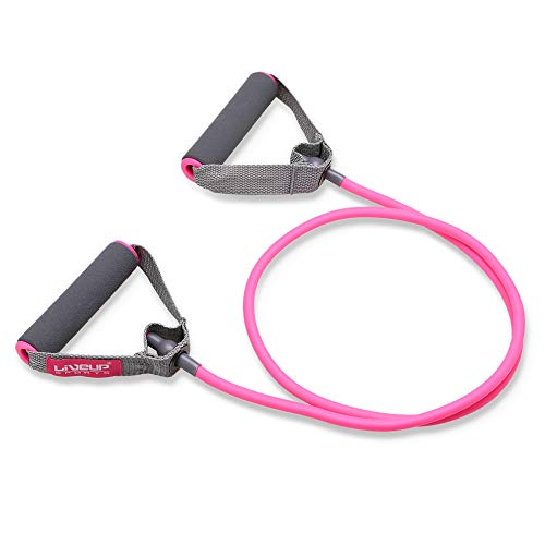 Resistance Bands Resistance Tubes with Foam Handles, Exercise Cords For Exercise Fitness Pilates Strength Training (Light tension - Pink)