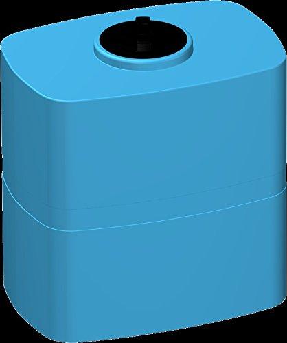 Serbatoio polietilene 5 mm tipo parallelepipedo verticale RINFORZATO - FORI STAMPATI e FILETTATI (300 litri) cisterna box acqua potabile alimenti blu