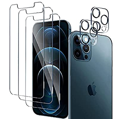 3 Pack Glass Screen Protector for iPhone 12 Pro...