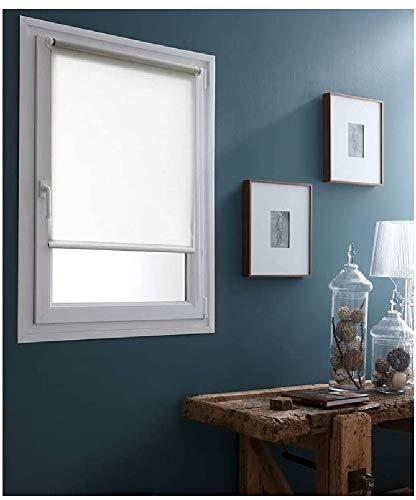 MADECOSTORE Easy GF7510065090 Store Enrouleur occultant avec ou sans perçage Blanc 65 x 90 cm