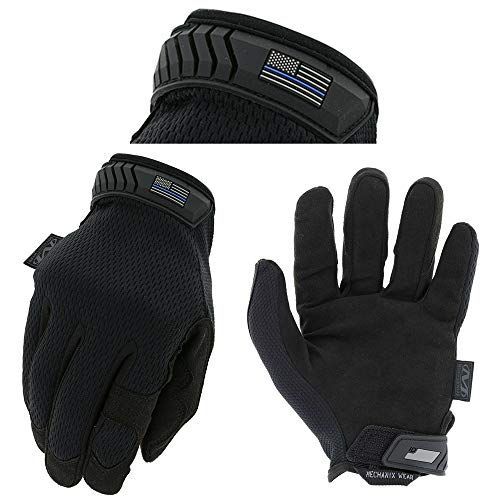 Mechanix Wear - Thin Blue Line Covert Tactical Gloves Large,Black