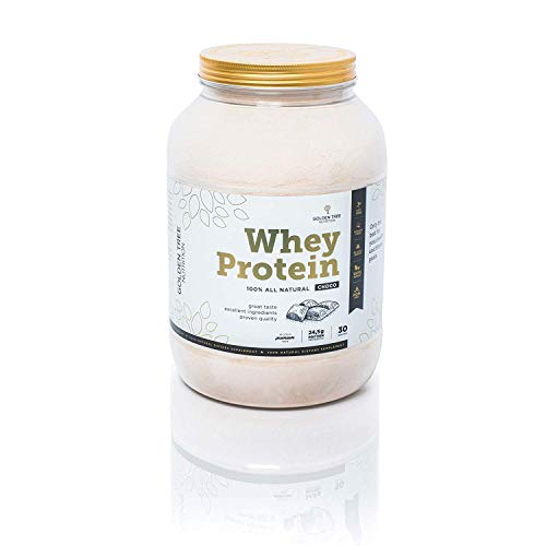 Whey Protein Powder 1kg | 100% All-Natural Ingredients | Delicious Natural Choco Flavour | No Added Sugar | No Artificial Colours, Sweeteners or Flavours