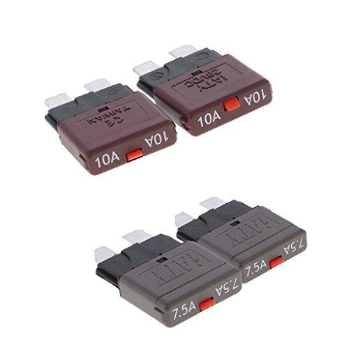 Sharplace 4X Mini Fusible Disjoncteur 28 V 7.5A + 10A Auto-Réinitialisant Circuit de Auto