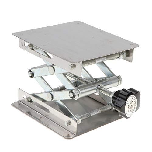 Sharplace Metal Lab-Lift Levanta Soporte de Tijera de Estante de Soporte Laboratorio - 100 x 100 x 150mm