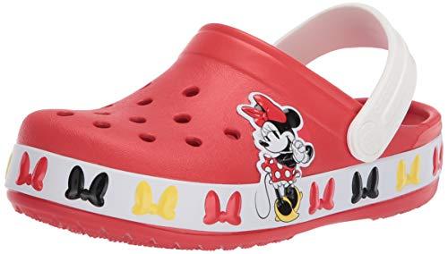 Crocs - Zuecos de Minnie Mouse para niños y niñas, Rojo (Llama), 32 EU