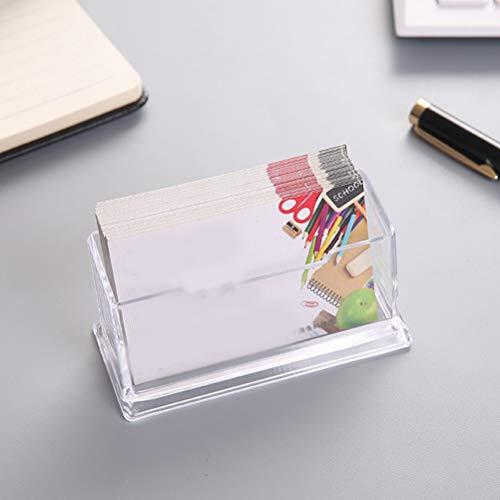 Tarjeta transparente Escritorio Caja Tarjeta de visita de plástico del soporte de exhibición caja de plástico Organizador de Taquilla for 10pcs / 20pcs Organizador de escritorio (Color : 10pcs)