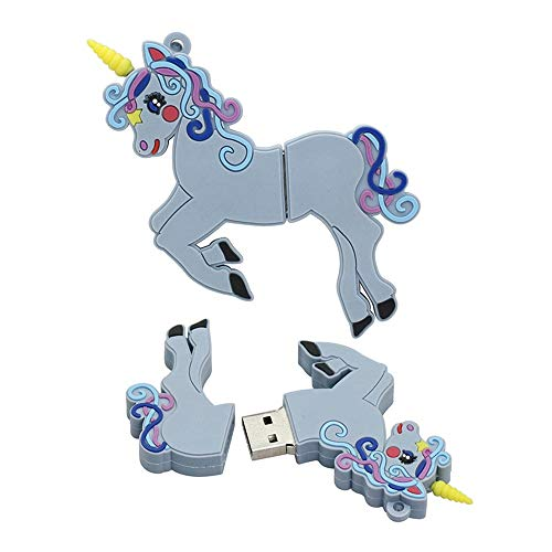 32GB Forma Unicornio Unidades de Memoria USB Unidades de Memoria Unidades Disco Memoria Flash Stick Unidades de Memoria Disco USB Flash Unidad de Disco USB U Disco Unidad USB USB (Azul)