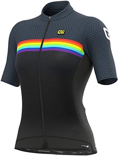 Alé Cycling PR-S Bridge - Maglia da ciclismo a maniche corte, da donna, colore grigio, Donna, grigio., XL