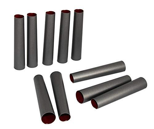 rukauf Cannoli Scoiattolo Stampo Set di 10 Lunghezza 10 cm Rivestimento Antiaderente Tradizionale Molds Cannoli Form Tubes