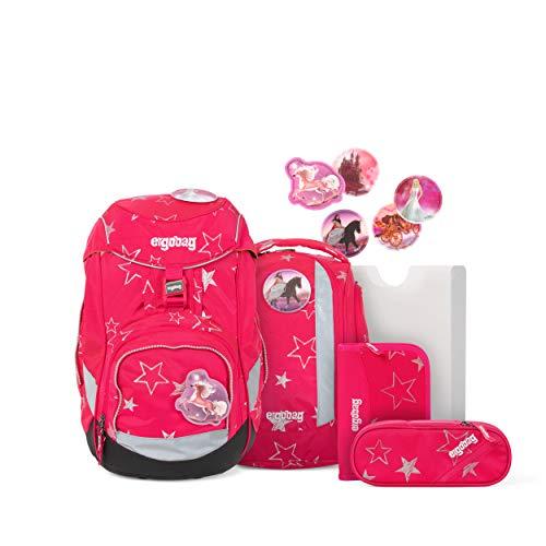 ergobag pack Set - ergonomischer Schulrucksack, Set 6-teilig - CinBärella - Pink