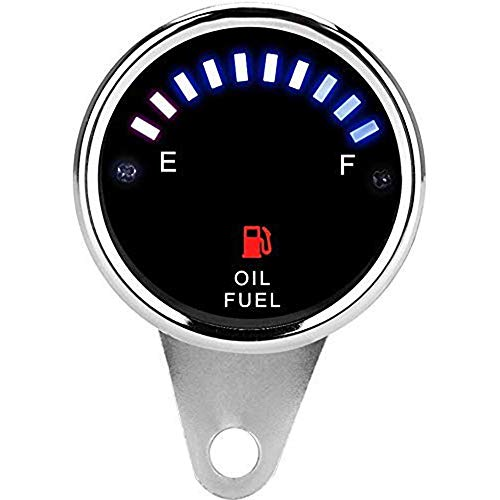 QYWSJ Motorrad Tankanzeige, DC 12V Universal-Motorrad-Auto-Anzeige Elektro-Tankanzeige Elektronisches Öl Meter-Messgerät, Benzinstandssensor