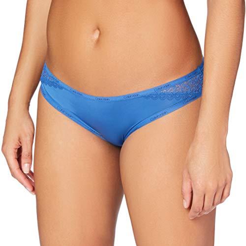 Calvin Klein Braguita Clásica-Flirty Ropa Interior, Azul (Minnow Blue G6T), S para Mujer