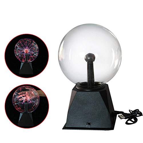Lámpara de plasma, UNISOPH Lámpara de noche sensible al tacto y sonido de plasma, Globo con bola de nebulosa Juguete novedoso para decoración/Niños/Dormitorio