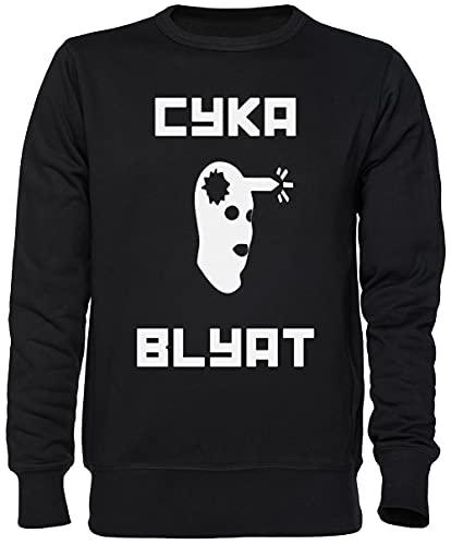 Capzy Cyka Blyat CSGO Gamer Noir Sweat-Shirt Jersey Unisexe Homme Femme Taille L Black Unisex Jumper Size L