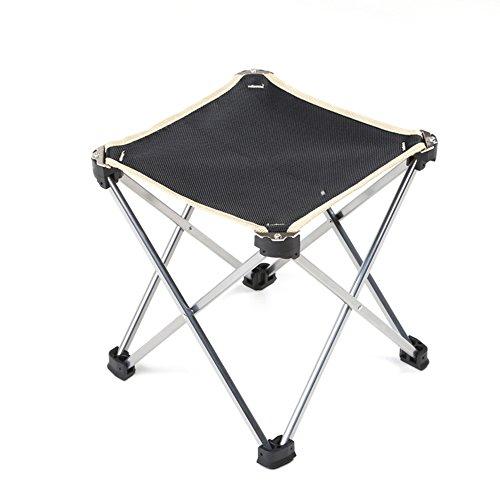 LJHA Tabouret pliable Chaise Portable En Aluminium Tabouret Chaise Pliante Pêche Tabouret Train Pony Bar Tabouret Noir 24 * 25 cm chaise patchwork