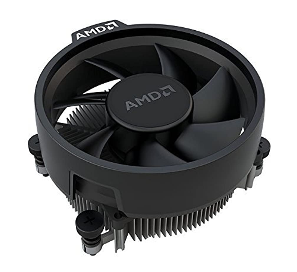 AMD Wraith Stealth Socket AM4 4-Pin Connector CPU Cooler with Aluminum Heatsink & 3.93-Inch Fan (Slim) tg8786616