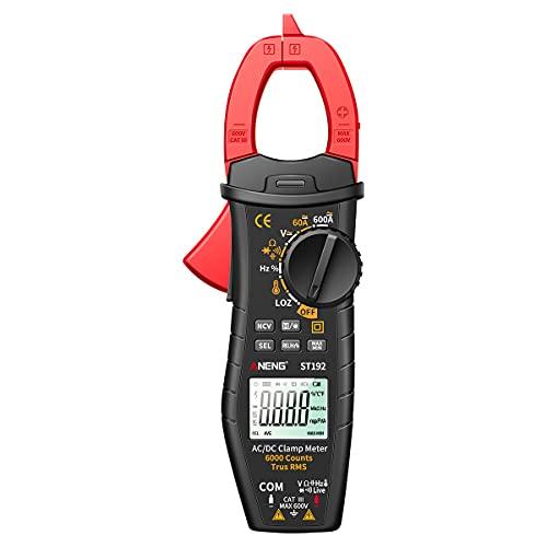 Jadeshay Multimetro Digitale ST192 6000 Conta True RMS Digital Clamp Meter Multimetro Tester di Tensione di Corrente AC DC