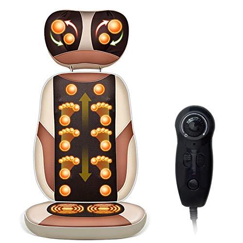 Massagesessel Shiatsu Massagestuhl elektrisch für den Ganzkörper mit Wärmefunktion, Knetmassage, Klopfmassage, Massagesitz Relaxsessel für Zuhause/Büro, Golden