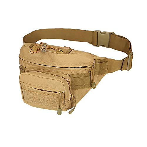Climbing Pack heuptas heupgordel tas voor wandelen klimmen vissen jacht buiten, bruin
