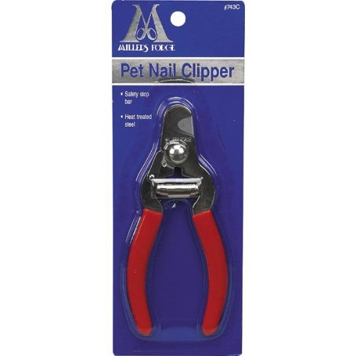 Millers Forge Steel Pet Nail Clipper 743C with Safety Stop Bar Small Medium Dog