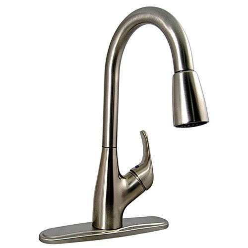 Valterra Phoenix PF231461 Single Handle Pulldown Kitchen Faucet, Brushed Nickel