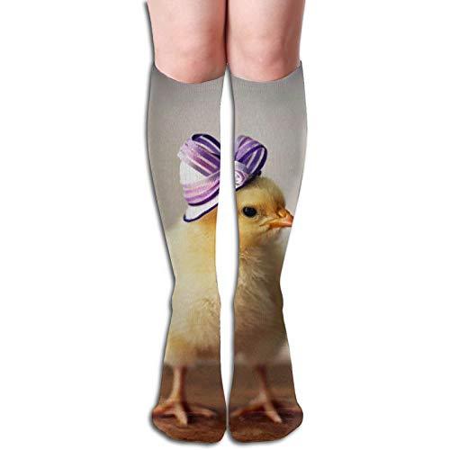 Lawenp Calcetines transpirables, calcetería atlética de rendimiento de ajuste cómodo para hombres, mujeres, pollo, dama, tubo largo