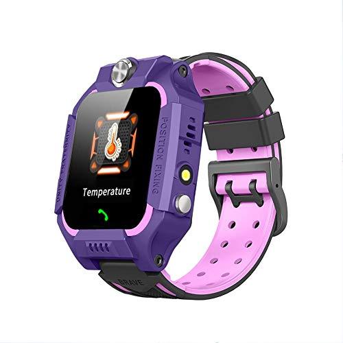 wasserdichte Smartwatch im Sportstil, LBS Multi-Positioning-Smartphonuhr mit extrem geringer Strahlung für Kinder, Kinder im Freien(Purple)