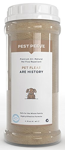 Pet Fleas are History - 100% Natural Flea and Tick Prevention Powder for Dogs and Cats - Spray and...
