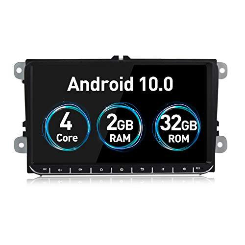 Android 10.0 Radio de coche estéreo de 9 pulgadas 2G RAM 32G ROM pantalla táctil para Volkswagen VW Passat Golf MK5 Jetta Tiguan T5 Skoda Seat GPS Radio de navegación de coche