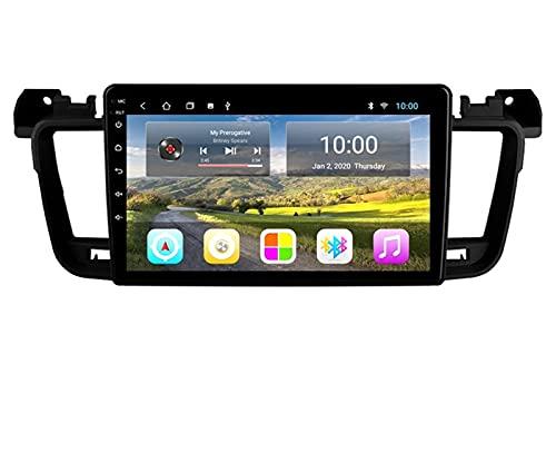 ZBHWYD Adecuado para 11-18 Peugeot 508 Android GPS Navegación de Pantalla Grande, 2GB + 32 GB de navegación GPS Audio y Video Multimedia Lanzamiento de transmisión